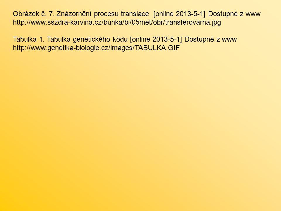 Obrázek č. 7. Znázornění procesu translace [online 2013-5-1] Dostupné z www